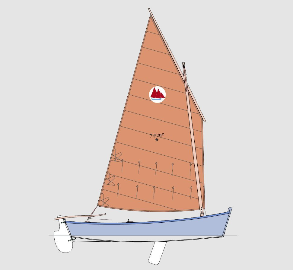 Sorine, sailing skiff