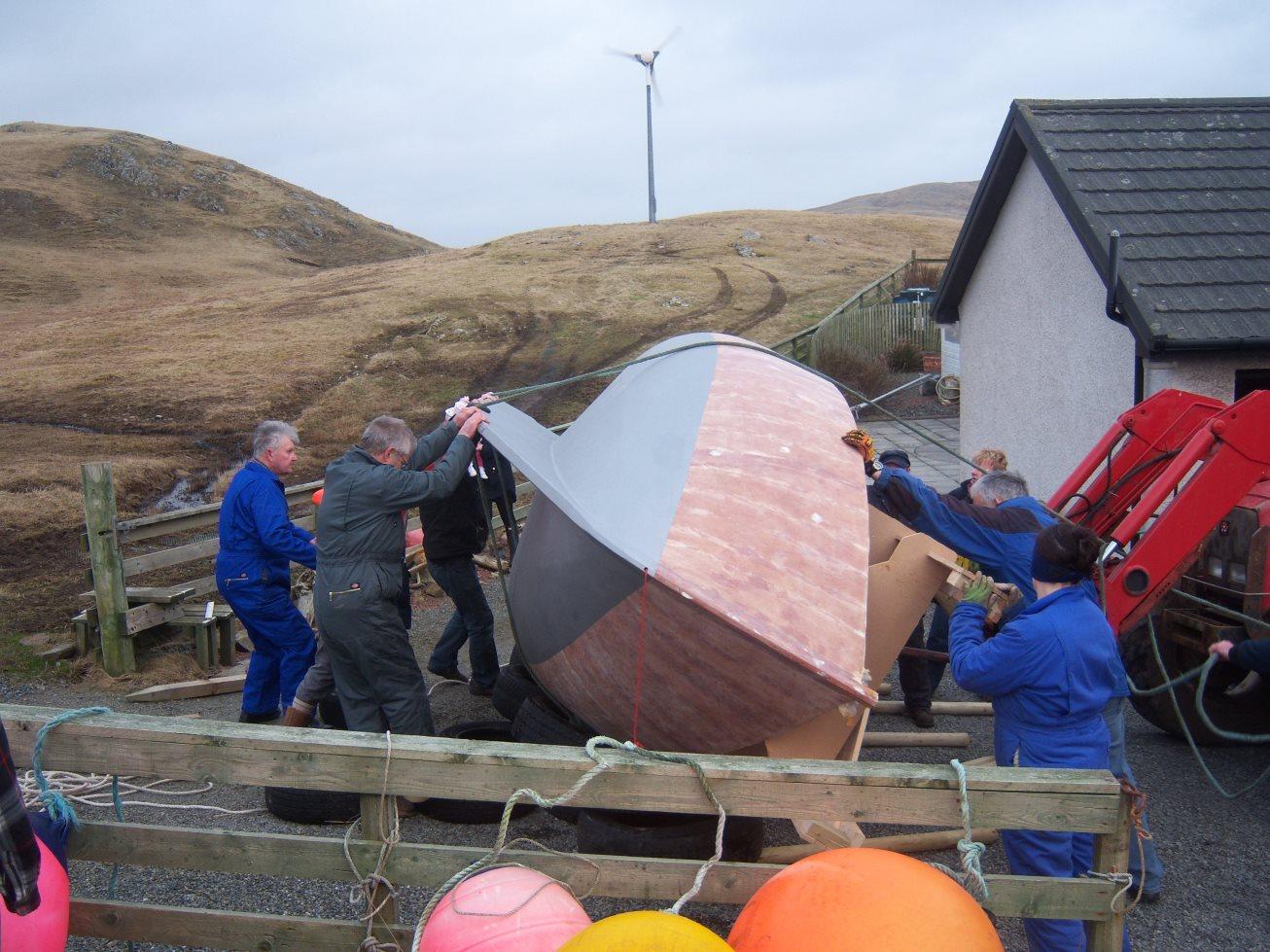 Un Koalen 17 en construction amateur aux îles Shetland