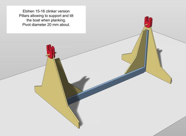Tilting pillars to build Ebihen 15/16